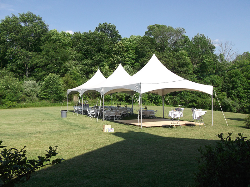 Large Tent outside on lawn